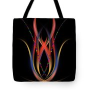 Blooming Digital Artwork Tote Bag