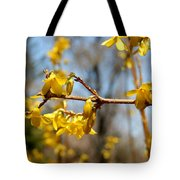 Blooming Forsythia Tote Bag