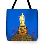 Blooming Golden Dome Tote Bag