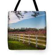 Blooming Peach Tree's At Boone Hall Tote Bag