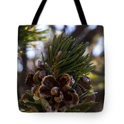 Blooming Pinecone Tote Bag