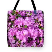 Blooming Pink Azaleas Tote Bag
