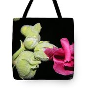 Blooming Pink Hollyhock Tote Bag