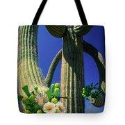 Blooming Saguaro Tote Bag