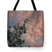 Blooming Tree And Sky Tote Bag