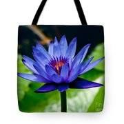 Blooming Water Lily Tote Bag