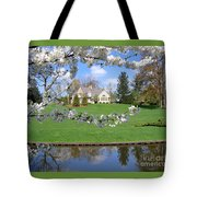 Blossom-framed House Tote Bag
