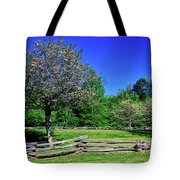 Blossom Trees In Farm, Davidson River Tote Bag