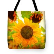 Blossoming Sunflower Beauty Tote Bag