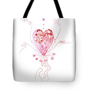 Blossoming Love Pink And Red Valentine Tote Bag