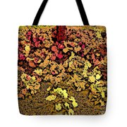 Blossoms And Tree In Yellow And Red Tote Bag