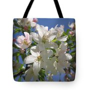Blossoms On Blue Tote Bag