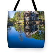 Blow Me Down Mill Cornish New Hampshire Tote Bag by Edward Fielding