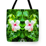 Blowing In The Breeze Mirror Image Tote Bag
