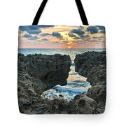 Blowing Rocks Sunrise Tote Bag