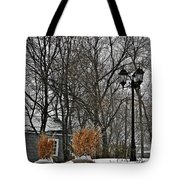 Blowing Snow Tote Bag