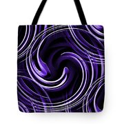 Blue 3d Swirls Tote Bag