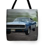 Blue 70 Charger Tote Bag