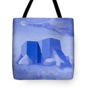 Blue Adobe Tote Bag