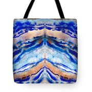 Blue Agate Abstract II Tote Bag