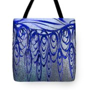 Blue And Black Swirl Abstract Tote Bag