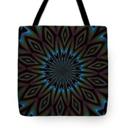 Blue And Brown Floral Abstract Tote Bag