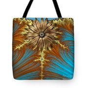 Blue And Brown Synergy Tote Bag