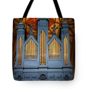 Blue And Gold Music Tote Bag