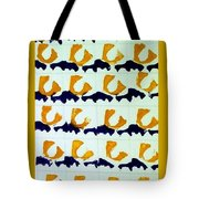 Blue And Gold Notecard Tote Bag