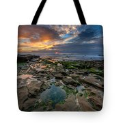 Blue And Gold Tidepools Tote Bag
