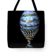 Blue And Golden Egg Tote Bag