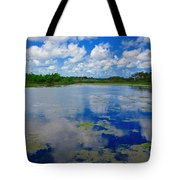 Blue And Green Cay Tote Bag