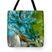 Blue And Green Glass Abstract Tote Bag