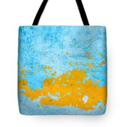 Blue And Orange Wall Texture Tote Bag