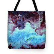Blue And Purple Abstract Tote Bag
