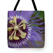 Blue And Purple Detail Tote Bag