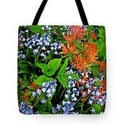 Blue And Red Flowers In Kuekenhof Flower Park-netherlands Tote Bag