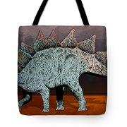 Blue And Rose Stegasarus Home On The Range  Tote Bag