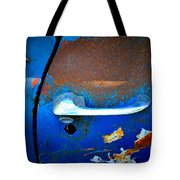 Blue And Rusty Picking Tote Bag