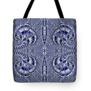 Blue And Silver 2 Tote Bag