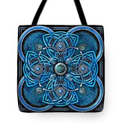 Blue And Silver Celtic Cross Tote Bag