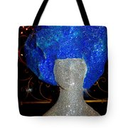 Blue And Silver Girl Tote Bag