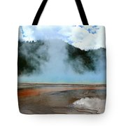 Blue And Steamy Tote Bag