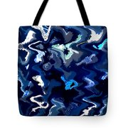 Blue And Turquoise Abstract Tote Bag