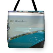 Blue And White Bel Air Convertable Tote Bag