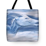 Blue And White Dragon Tote Bag