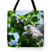 Blue And White Lilacs Tote Bag