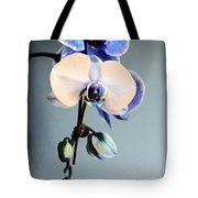 Blue And White Orchids Tote Bag
