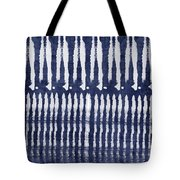 Blue And White Shibori Design Tote Bag