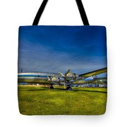 Blue And Yellow Connie Tote Bag by Marvin Spates